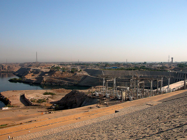 .a view from Aswan High Dam