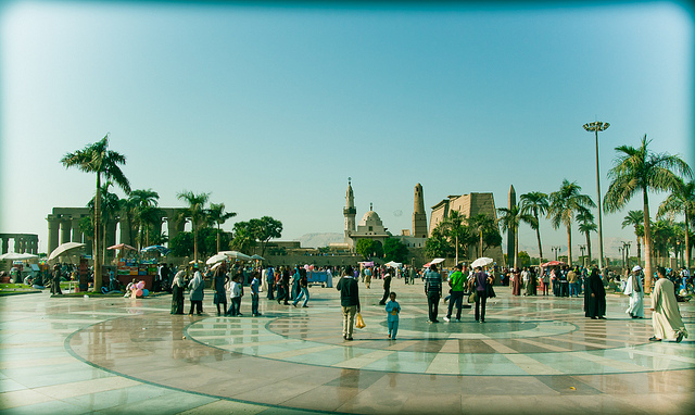 Luxor square, front of the temple