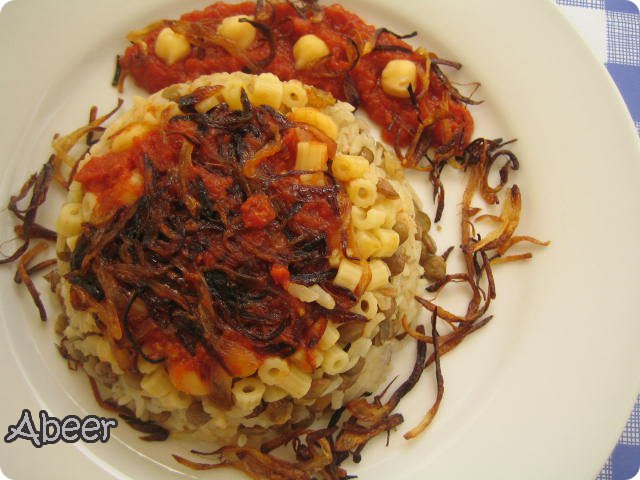Kushari -A traditional Egyptian dish.