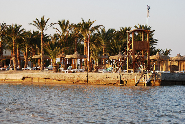 Intercontinental Hotel beach in Egypt