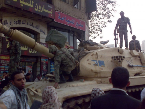Army Truck beside Tahrir Square, ©RamyRaoof/Flickr
