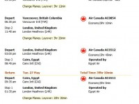 Air Canada flight from Seattle to Cairo from $1104