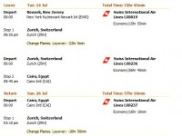 Swiss International Airlines flight from Newark to Cairo from $843