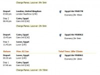 Egypt Air flight from Chicago to Luxor from $1162